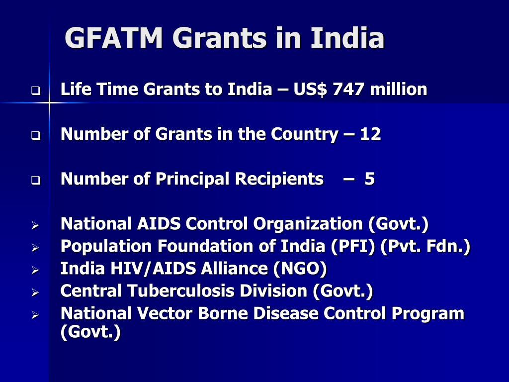 GFATM Grants in India