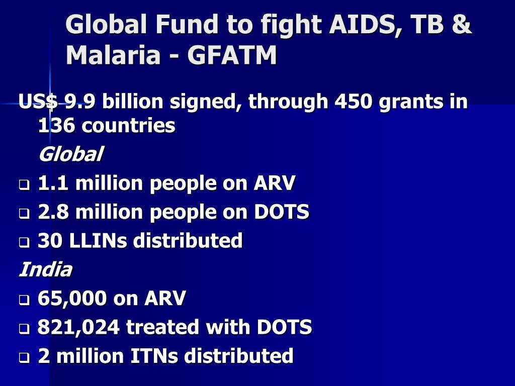 Global Fund to fight AIDS, TB & Malaria - GFATM
