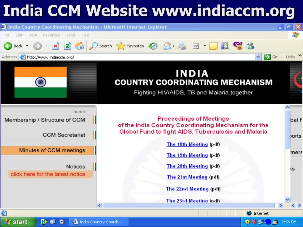 India CCM Website www.indiaccm.org