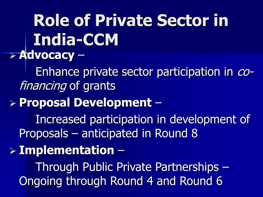 Role of Private Sector in India-CCM