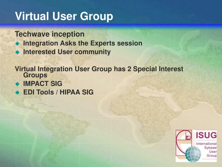 Virtual User Group