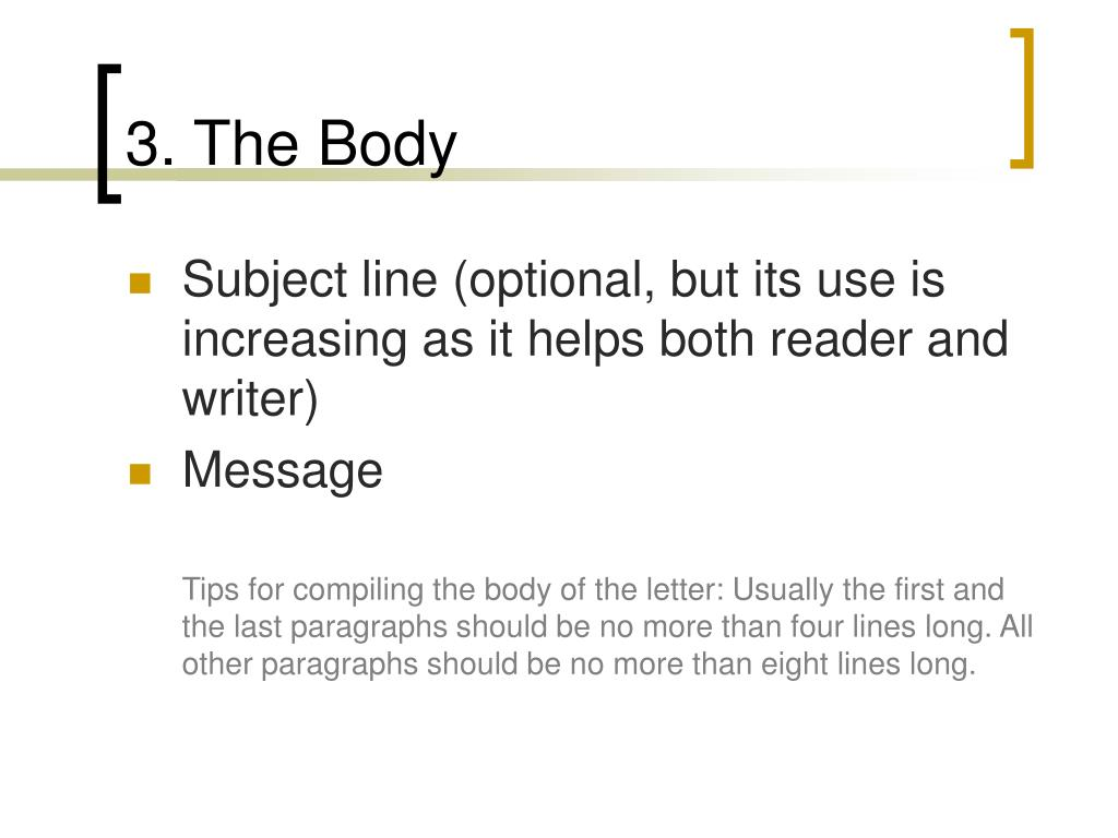 3. The Body