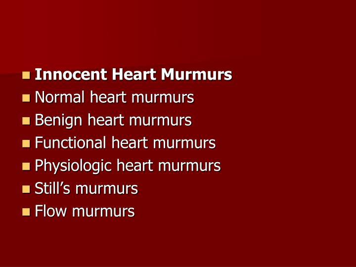 Innocent Heart Murmurs