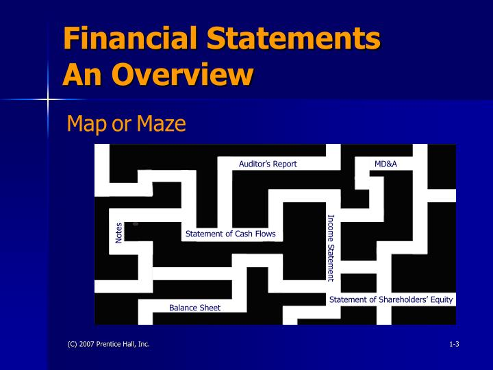 Financial statements an overview3