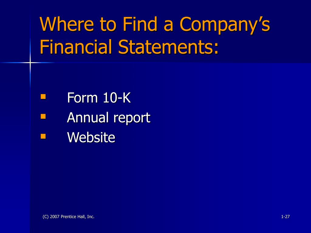 Where to Find a Company's Financial Statements: