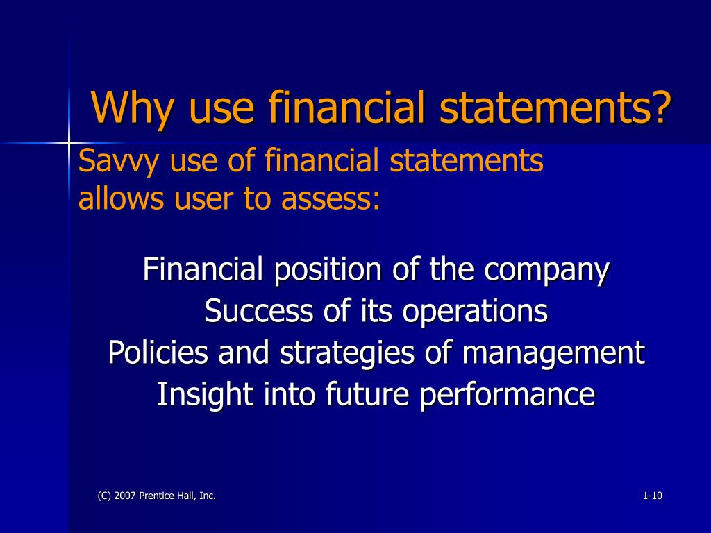 Why use financial statements?