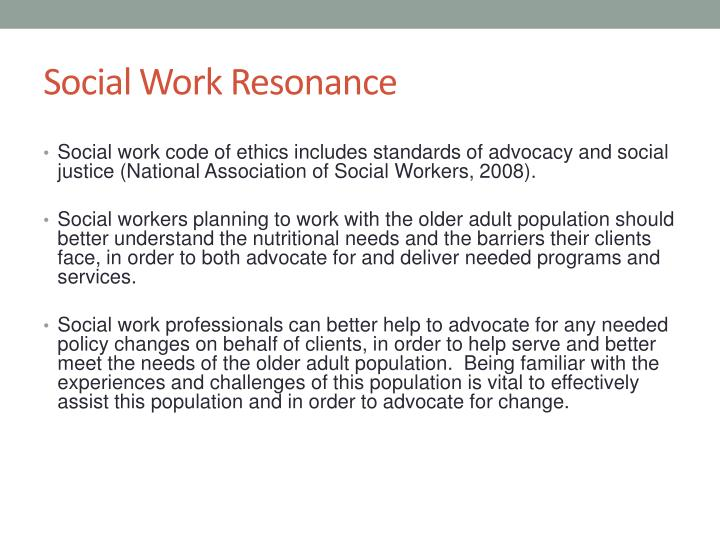 Social work resonance