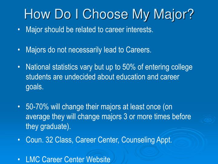 How Do I Choose My Major?