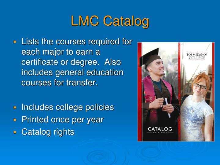 LMC Catalog
