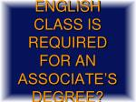 what english class is required for an associate s degree