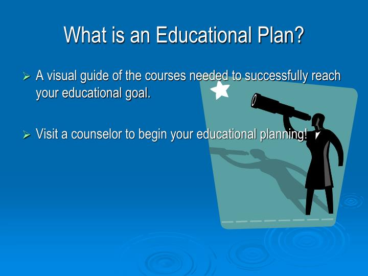 What is an Educational Plan?