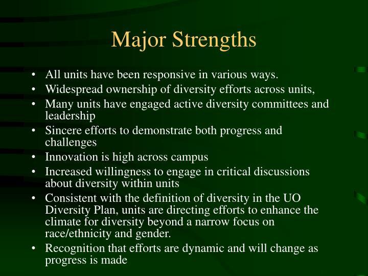 Major Strengths