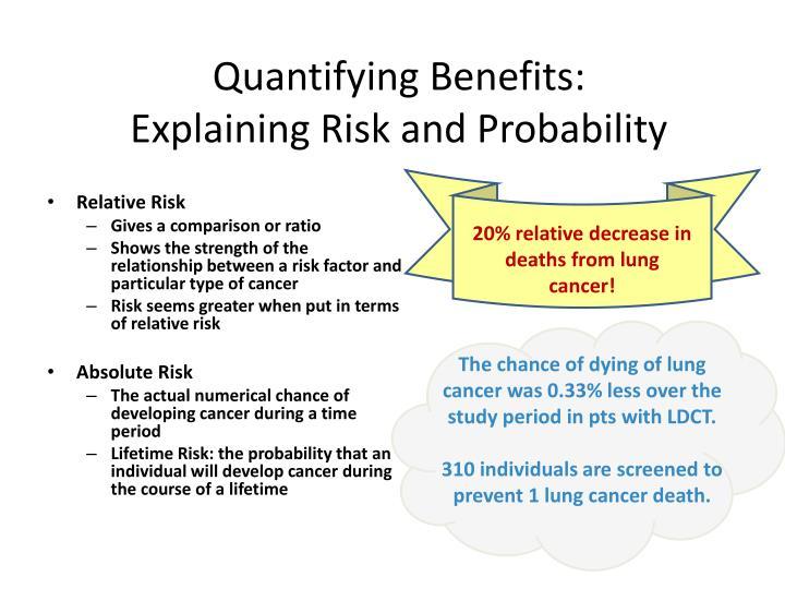 Quantifying Benefits:
