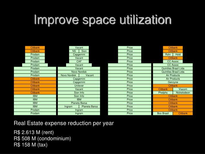 Improve space utilization