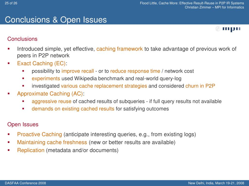 Conclusions & Open Issues