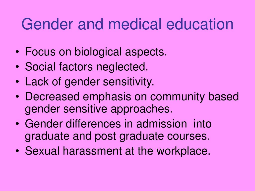 Gender and medical education
