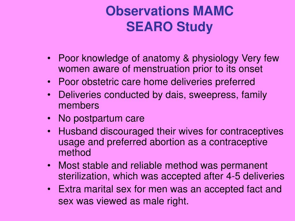 Observations MAMC