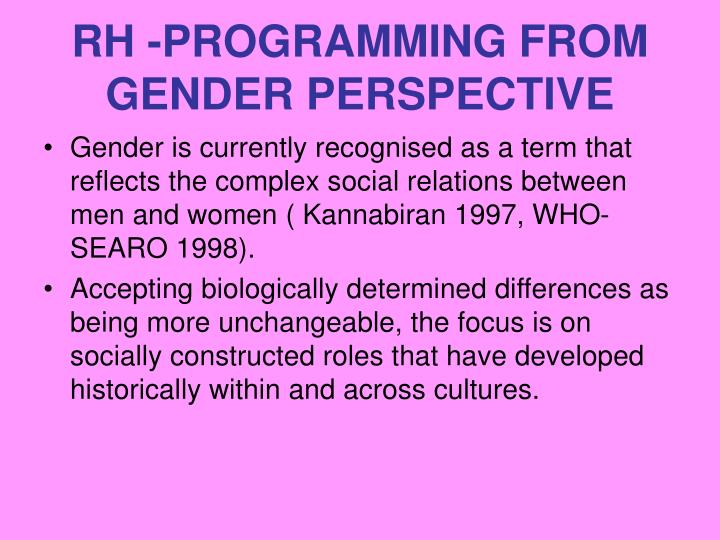 Rh programming from gender perspective2