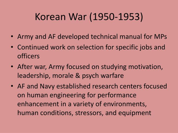 Korean War (1950-1953)