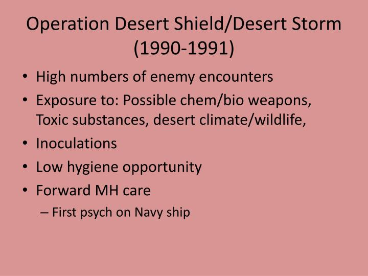 Operation Desert Shield/Desert