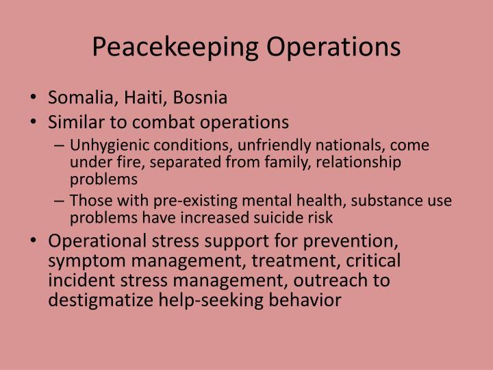 Peacekeeping Operations