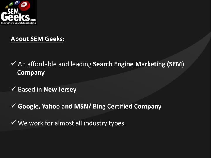 About SEM Geeks