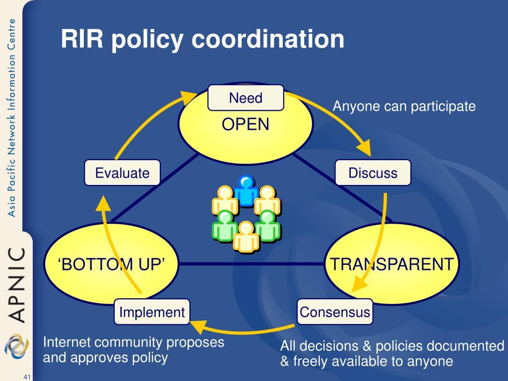 RIR policy coordination