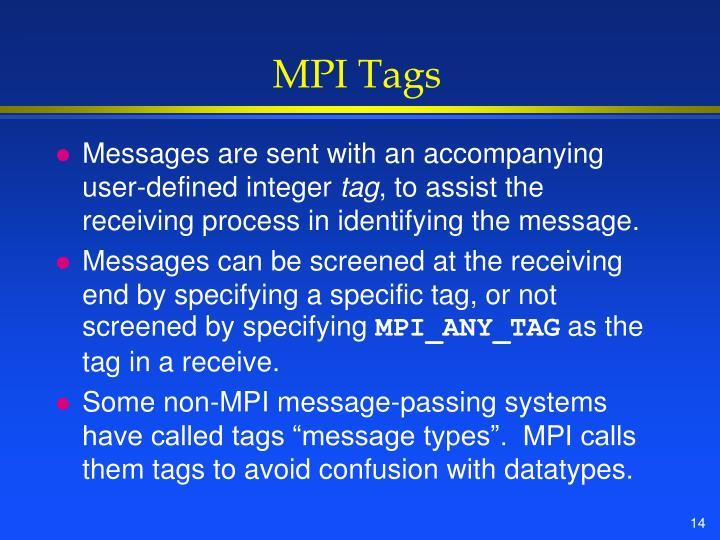 MPI Tags
