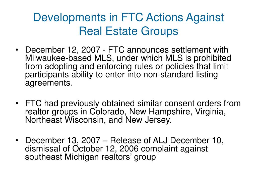 Developments in FTC Actions Against