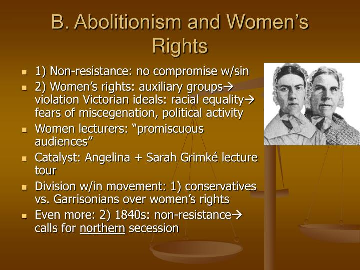 B. Abolitionism and Women's Rights