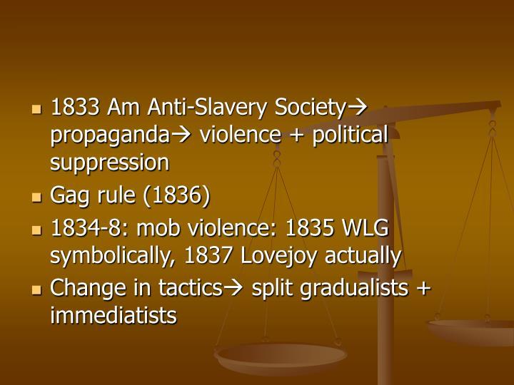1833 Am Anti-Slavery Society