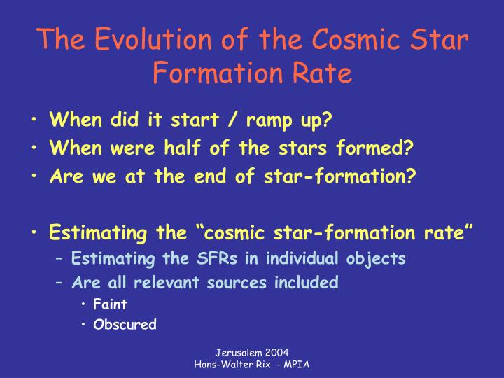 The evolution of the cosmic star formation rate