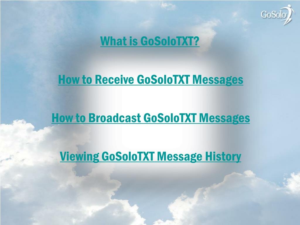 What is GoSoloTXT?