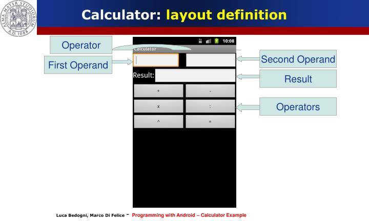 Calculator: