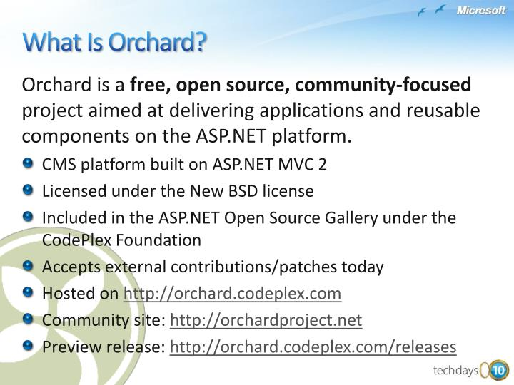 Orchard is a