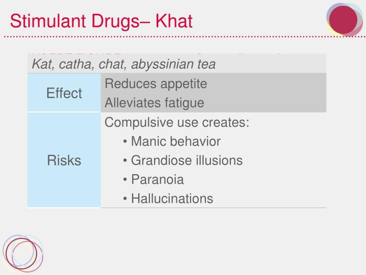Stimulant Drugs– Khat