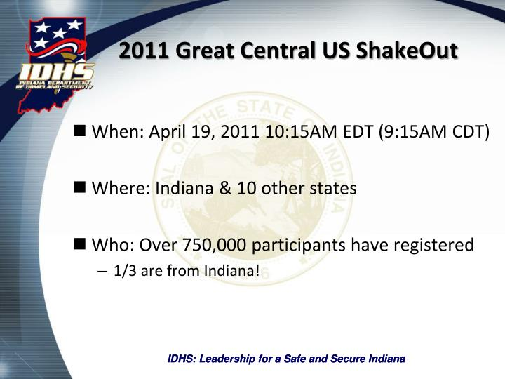 2011 great central us shakeout