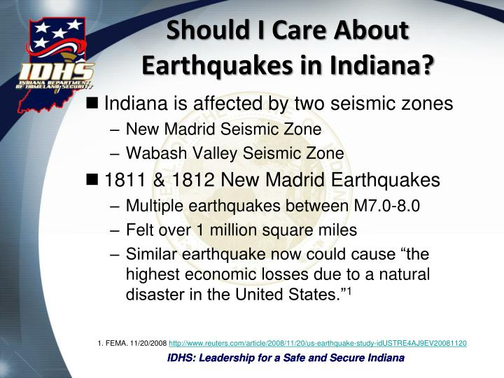 Should I Care About Earthquakes in Indiana?