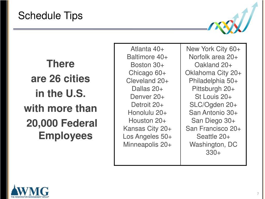Schedule Tips