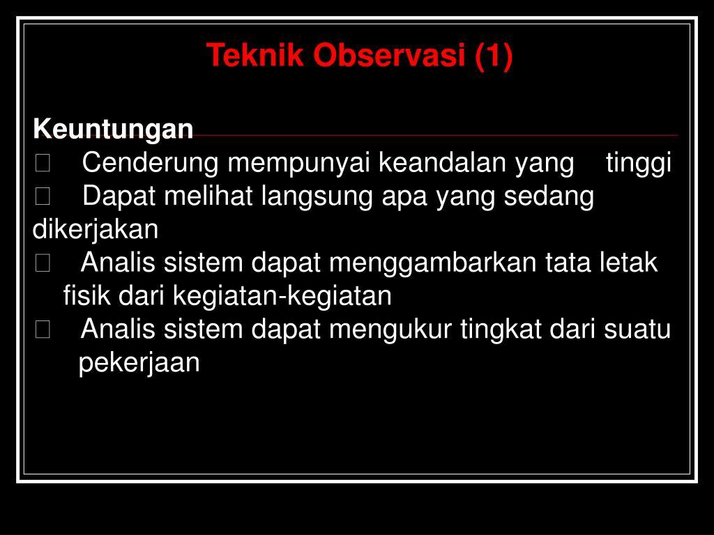 Teknik Observasi (1)