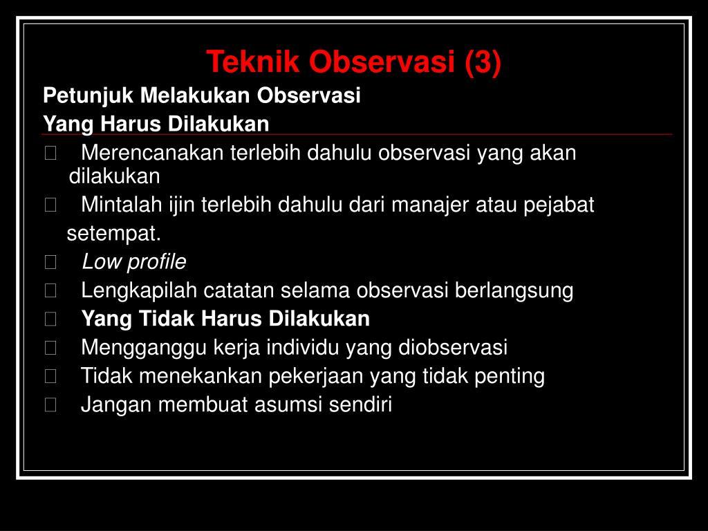 Teknik Observasi (3)