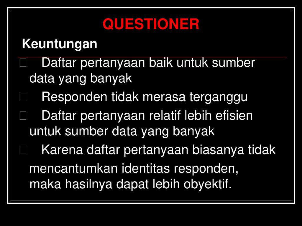 QUESTIONER