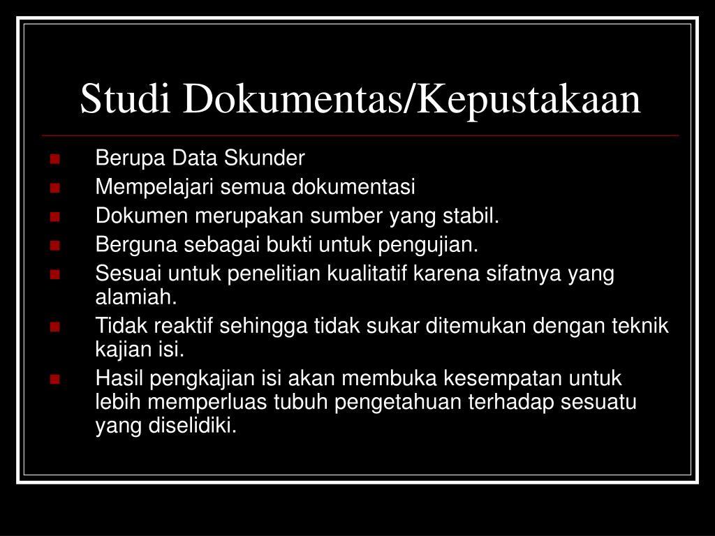 Studi Dokumentas/Kepustakaan