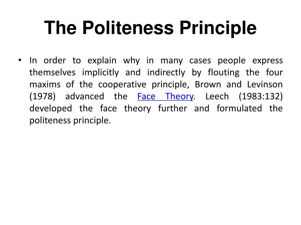 The Politeness Principle