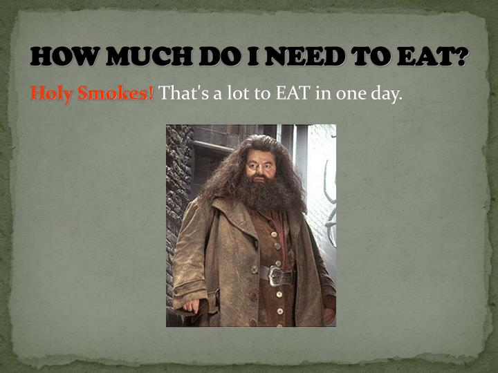 How much do I need to eat?