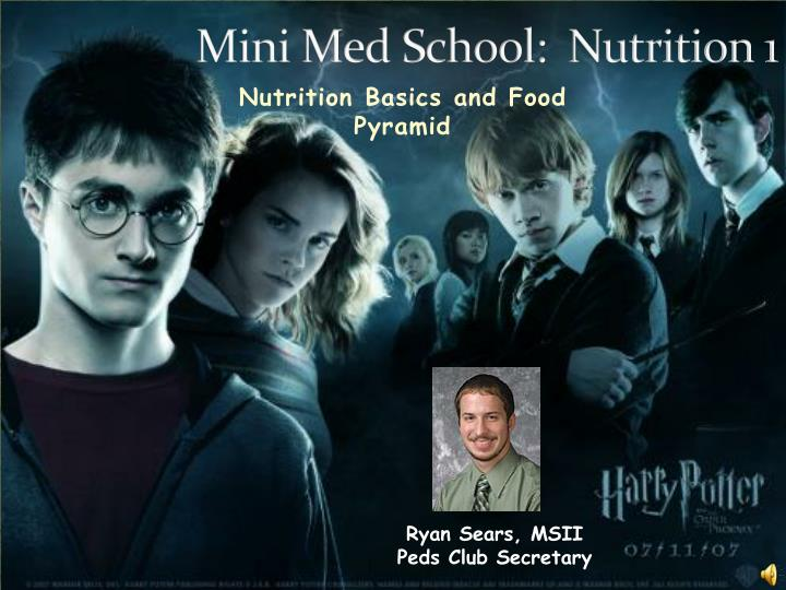 Mini med school nutrition 1