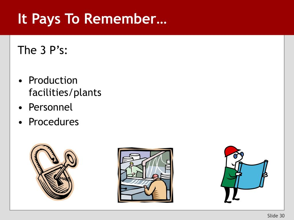 It Pays To Remember…