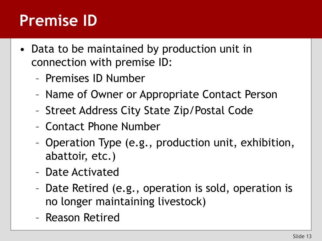 Premise ID