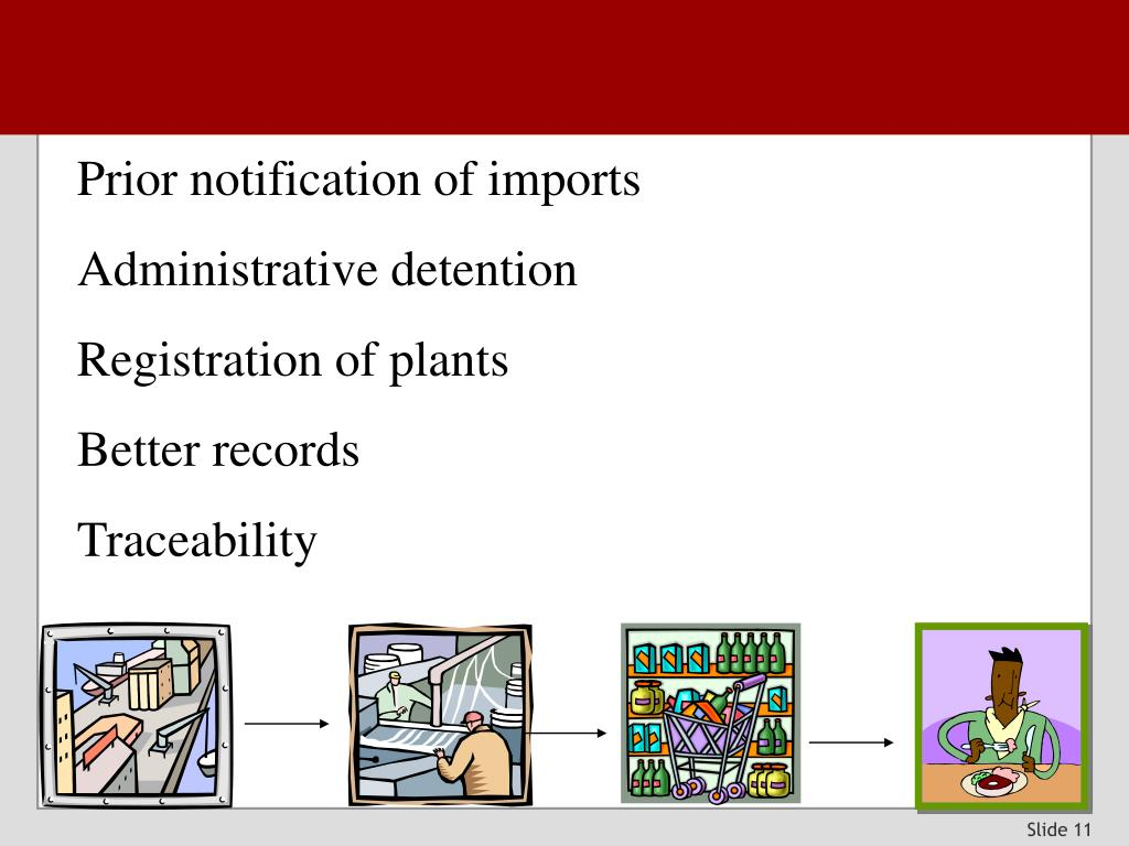 Prior notification of imports