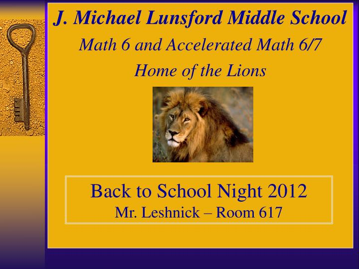 J. Michael Lunsford Middle School